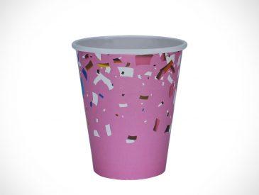 COPO IMPRESSO – festa rosa – 180ml